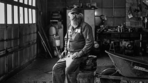 Larry, a worker at Superior Coal Breaker, Schuylkill County, Pennsylvania. Photo by Joel Anderson